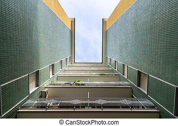 perspective view of a building