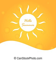 hello summer abstract background