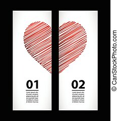 Creative paper labels for valentine's day