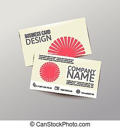 Business card - Modern simple light business card template...