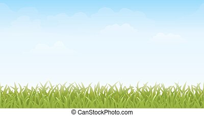 Grass and Sky - Seamless - Grass and sky with faint clouds...