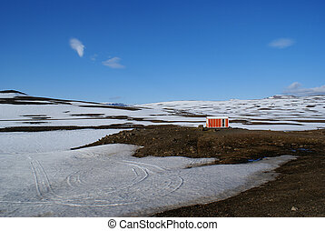 Mountain Hut - Emergency hut on the road from Egilsstadir to...
