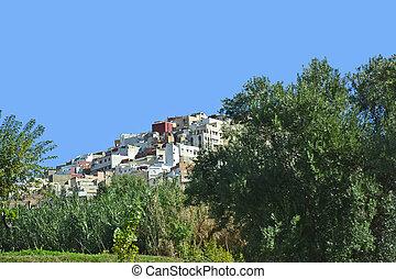Morocco, Volubilis - Morocco, mountain village Moulay Idriss