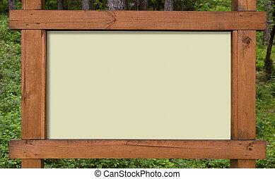Forest sign board - Wooden sign board ready to put...