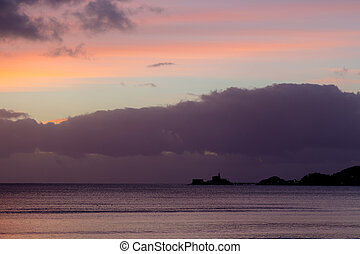 Mumbles at dawn - Mumbles on the Gower Peninsula, South...