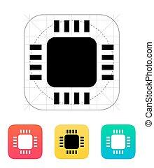 Mini CPU icon Vector illustration