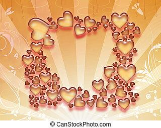 Valentine day hearts background