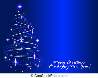 Christmastree - Abstract vector illustration of a christmas...