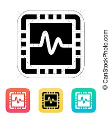 CPU monitoring icon Vector illustration