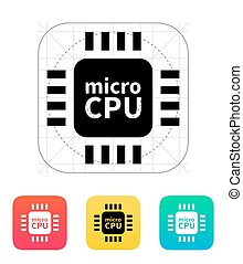 Micro CPU icon Vector illustration
