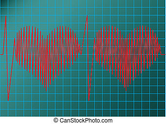 cardiogram - This image is a vector illustration and can be...