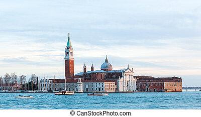 Island and church of San Giorgio Maggiore, Venice. - Island...