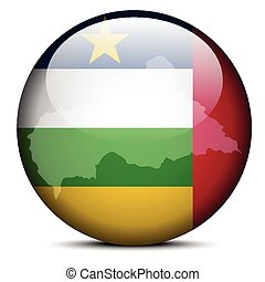 Map on flag button of Central African Republic