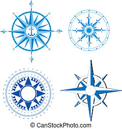 Wind rose - This image is a vector illustration and can be...