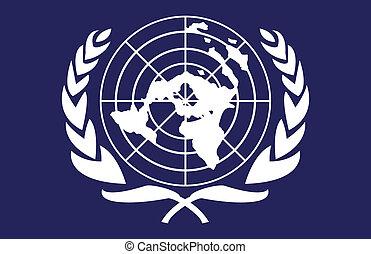 unido, naciones, bandera