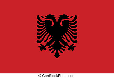 Albania flag - This image is a vector illustration and can...
