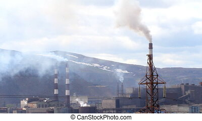 Copper-Nickel plant and  destruction of nature in Lapland
