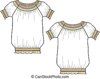 Lady Embroidery Top
