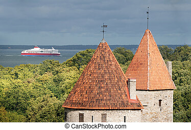 Arrival. - The ferry arrives to Tallinn port.