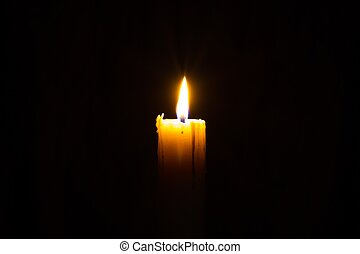 Candle in the Dark - Candle in the dark with copyspce