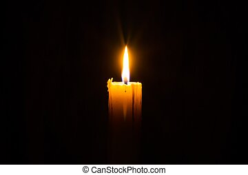 Candle in the Dark - Candle in the darkness with copyspce