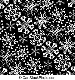 Christmas black and white diagonal seamless pattern (vector)