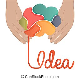 Idea design, vector illustration - Idea design overwhite...