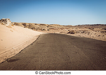 Road on  Ras Mohammed national park, Sinai, Egypt