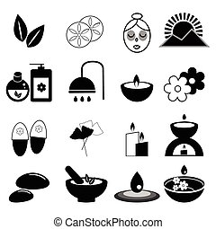 Set of spa and massage icons