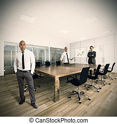 Business people in a office - Business people working...