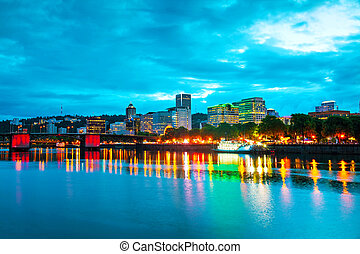 Downtown Portland cityscape - Downtown Portland, Oregon...