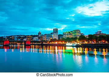 Downtown Portland cityscape - Downtown Portland, Oregon...