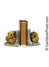 Bookend in the form of two owls - Figure two owls supporting...