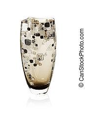 Black empty glass vase