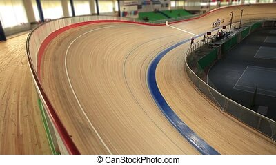 Cycling race Indoor track - Pursuit Cycling Indoor track...