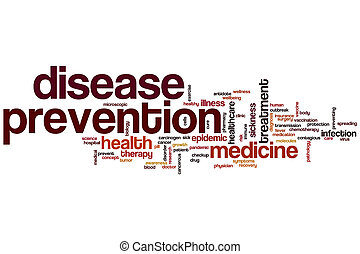 Disease prevention word cloud concept