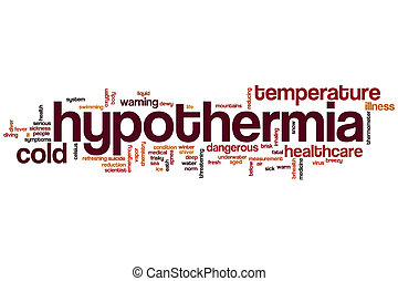 Hypothermia word cloud concept