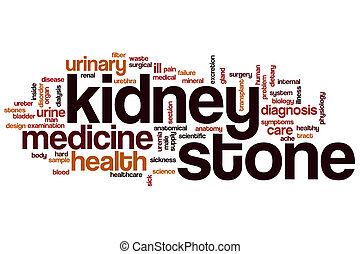 Kidney stone word cloud concept