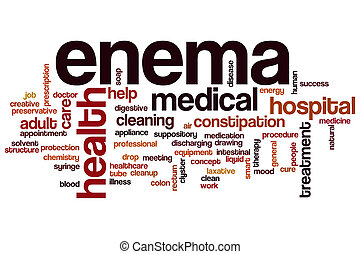 Enema word cloud concept