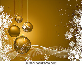 Christmas background - Golden Christmas background