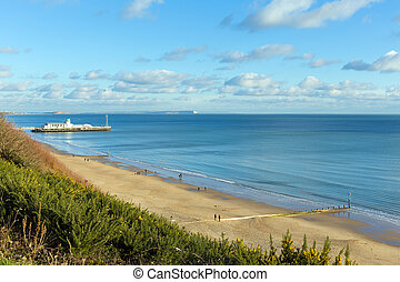 UK south coast Bournemouth Dorset - Bournemouth beach pier...