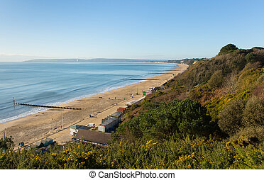West view Bournemouth coast Dorset - View to the west...