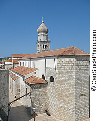 View of Krk - View of the city of Krk in Croatia