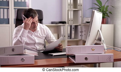 Stress at Workplace - Tired man in the workplace