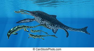 Shonisaurus Marine Reptile - Shonisaurus Ichthyosaur was an...