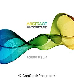 Vector Abstract smoky waves background Template brochure...