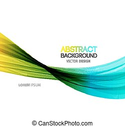 Abstract smoky waves background - Vector Abstract smoky...