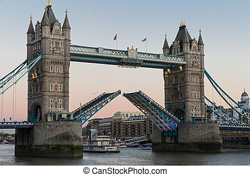 London Tower Bridge - View on world famous London Tower...