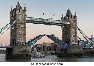 London Tower Bridge - View on world famous London Tower...
