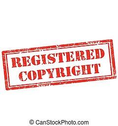 Registered Copyright-stamp